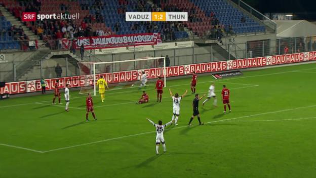 Video «Thun gewinnt dank Sorgic in Vaduz» abspielen