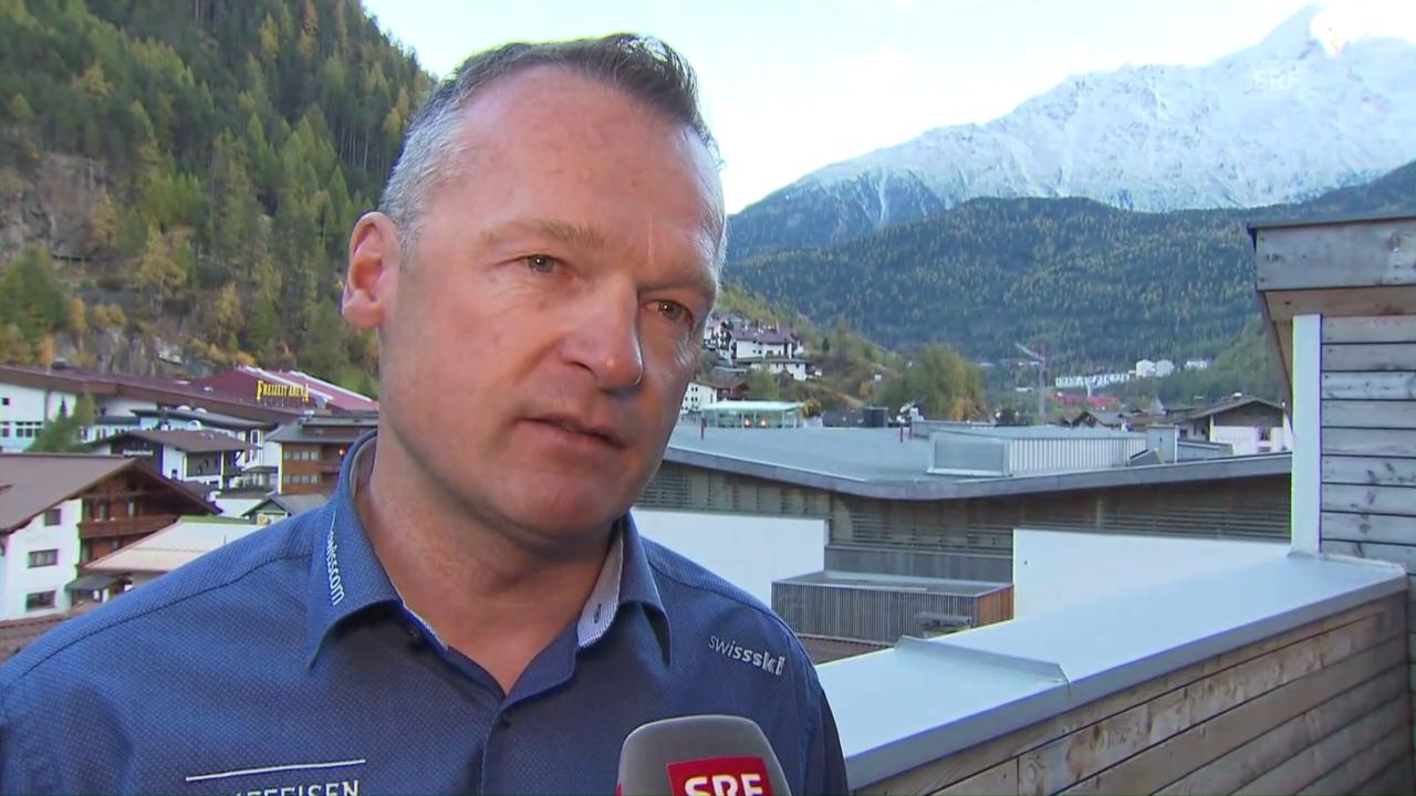 Hans Flatscher vor dem Saisonprolog