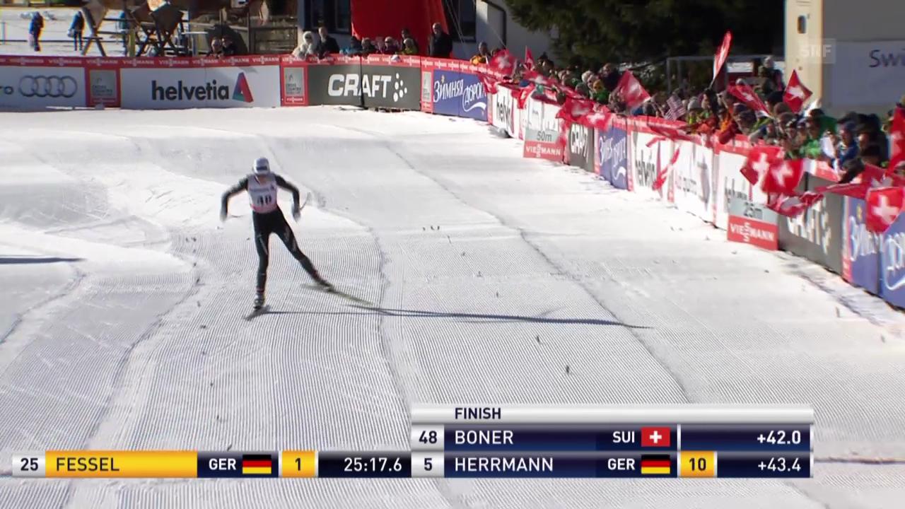 Ski nordisch: Langlauf-Weltcuo in Davos, Seraina Boner