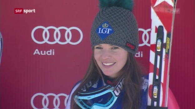Video «Ski: Super-G Frauen in Garmisch («sportaktuell»)» abspielen