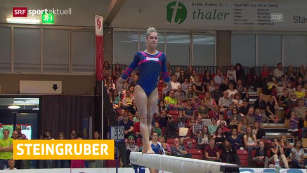 Video «Turnen: Steingruber und Brägger holen Titel («sportaktuell»)» abspielen
