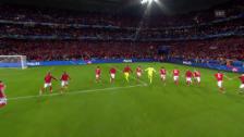 Video «Zusammenfassung Wales - Belgien» abspielen