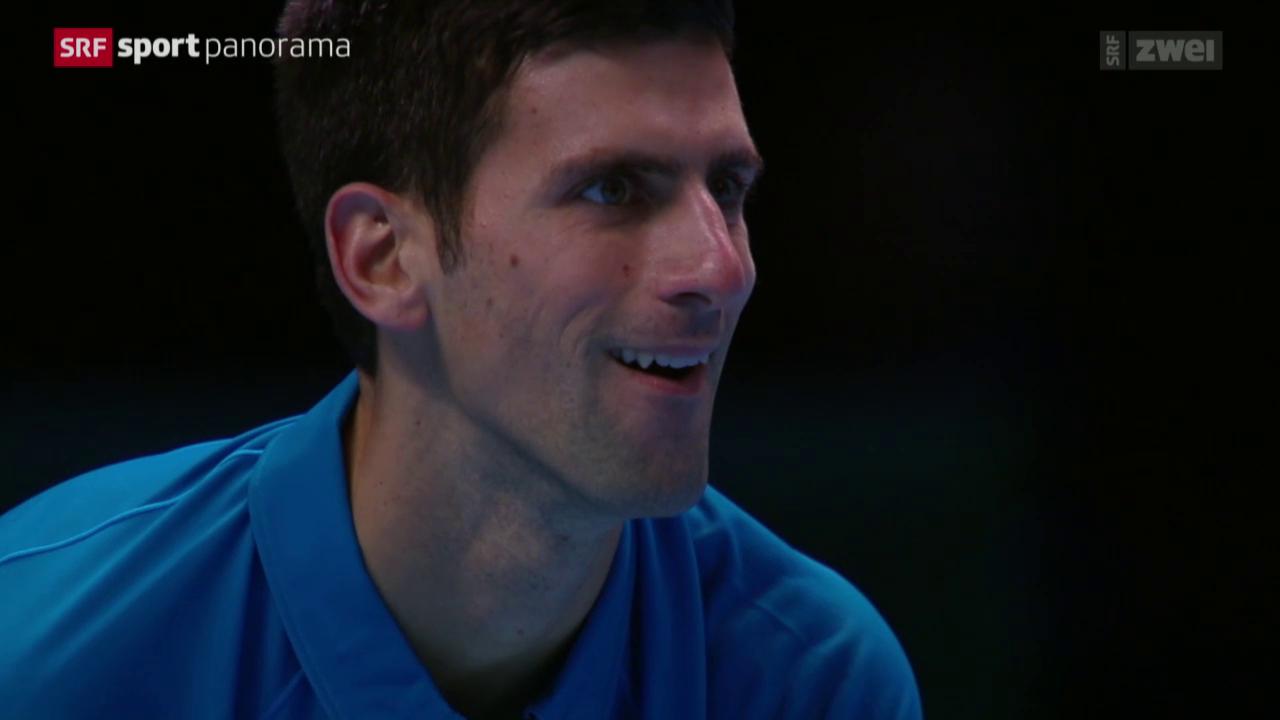 Tennis: ATP Finals in London, 1. Spiel Djokovic - Nishikori