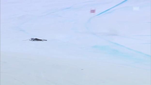 Video «Frauen-Abfahrt in Garmisch: Sturz von McKennis («sportlive»)» abspielen