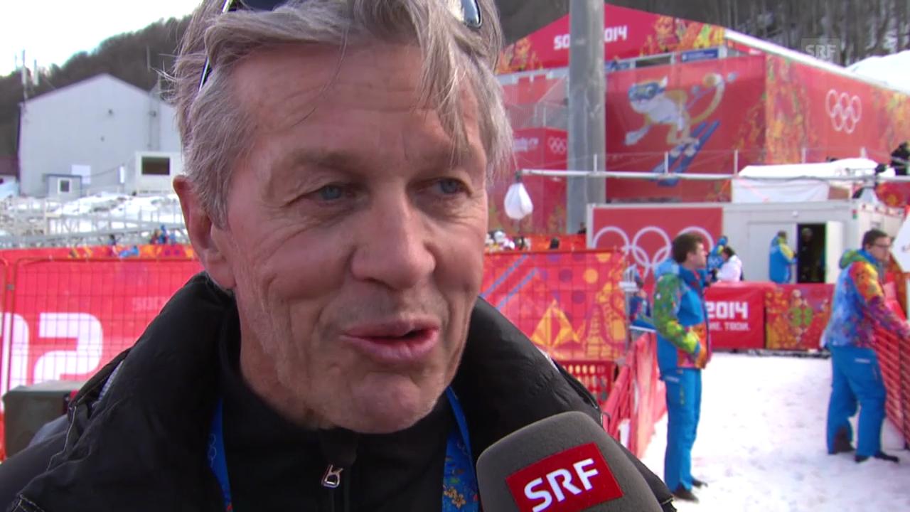 Bernhard Russi zur Ausgangslage im Super-G (15.02.2014)