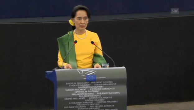 Video «Rede von Aung San Suu Kyi» abspielen