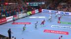 Video «Schweizer Handballer gegen Slowenien chancenlos» abspielen