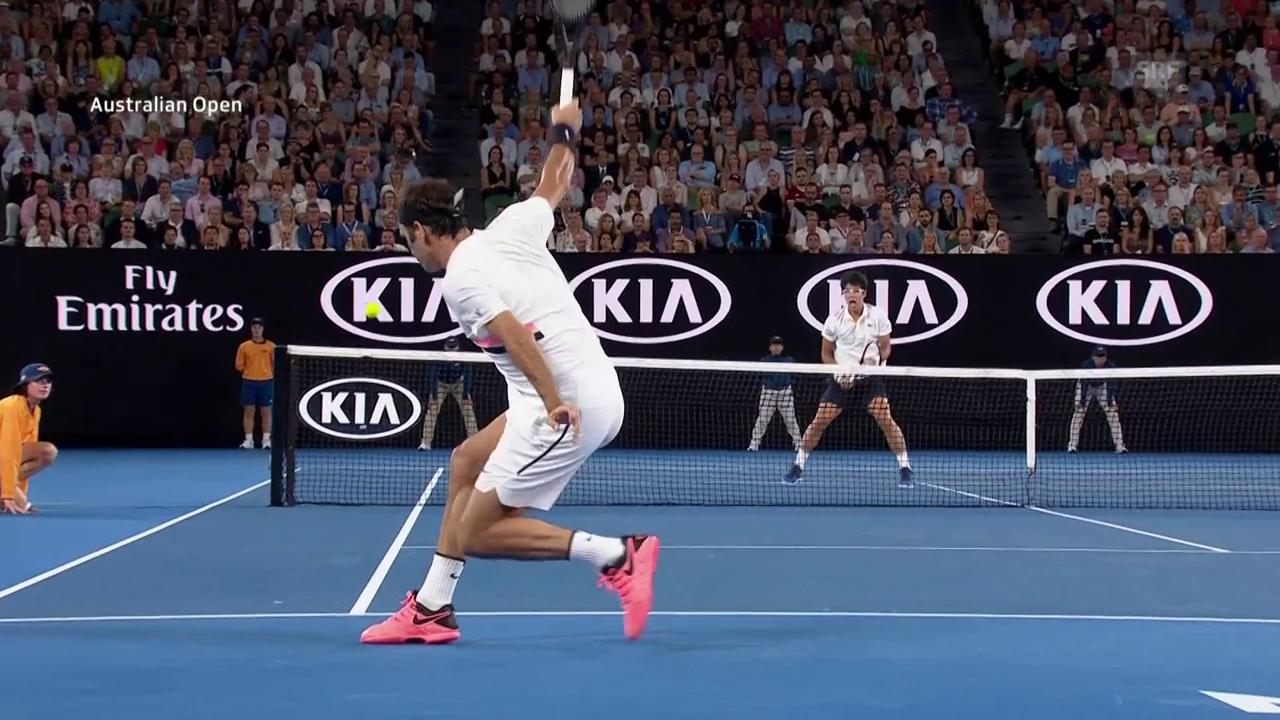 Die Live-Highlights bei Federer gegen Chung
