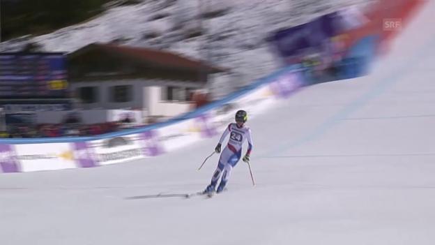 Video «Ski alpin: Weltcup Frauen, Super-G Garmisch, Fahrt Suter» abspielen