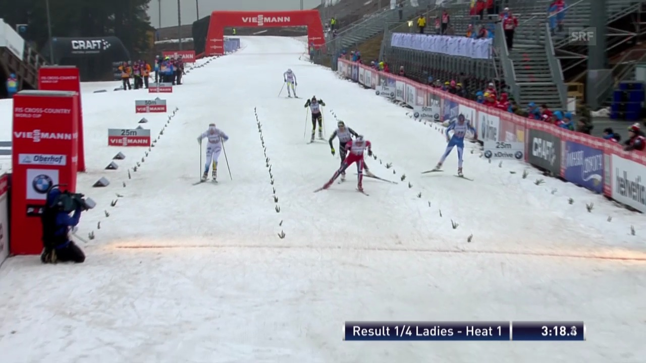 Langlauf: Sprint Oberhof, Frauen («sportaktuell» vom 29.12.2013)