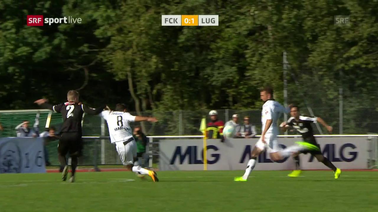 Lugano mit Last-Minute-Sieg bei Köniz