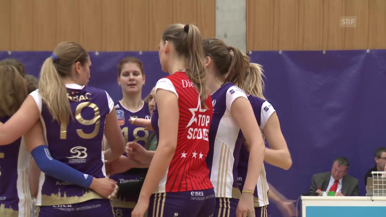 Volleyball: Volero - Köniz: Satz- und Matchbälle