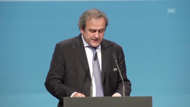 Video «Fussball: Uefa, Wiederwahl von Michel Platini» abspielen