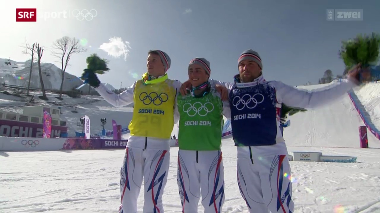Skicross Männer: Dreifachsieg für die Franzosen