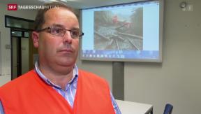 Video «Untersuchung des Zugunglücks in Tiefencastel» abspielen