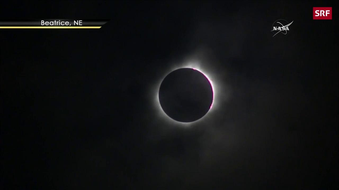 Spektakuläre Sonnenfinsternis in den USA
