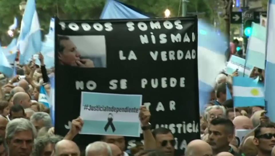 Hundertausende demonstrieren in der Nisman-Affäre
