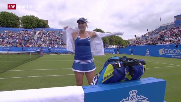 Video «Tennis: Bencic - Keys in Eastbourne» abspielen