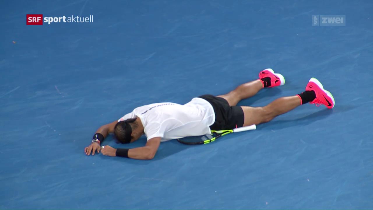 Nadal ringt in epischem Halbfinal Dimitrov nieder