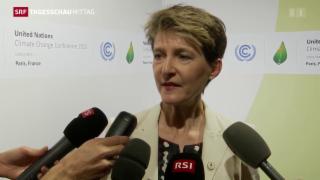 Video «Sommaruga präsentiert Schweizer Ziele» abspielen