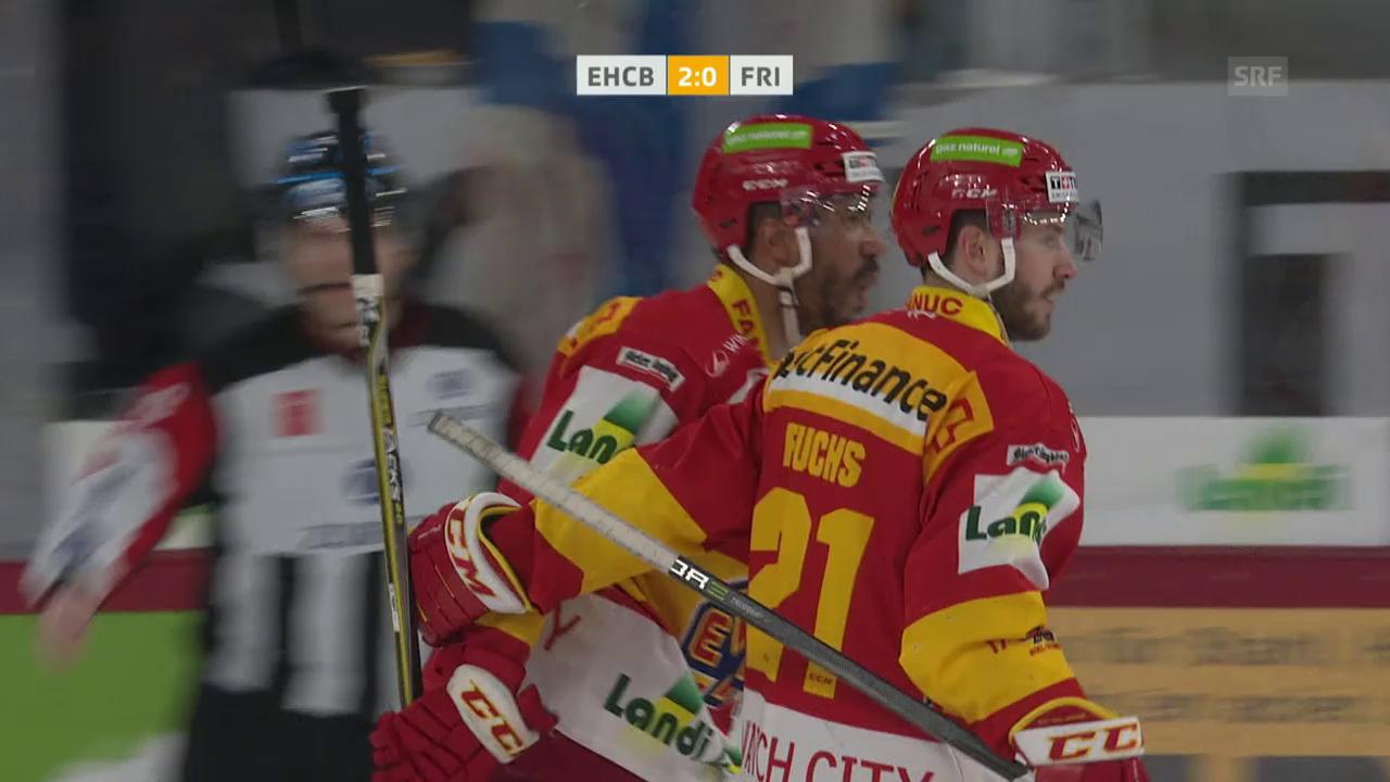 Biel gewinnt gegen Fribourg mit 2:0