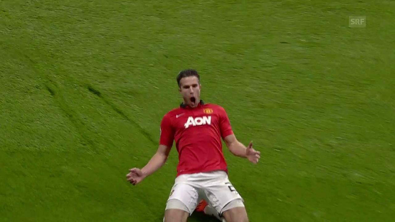 Der Van-Persie-Hattrick, der United in den Viertelfinal brachte
