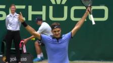 Link öffnet eine Lightbox. Video Federer - Zverev: Livehighlights abspielen