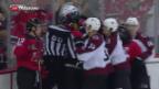 Video «NHL-Debüt von Nico Hischier» abspielen