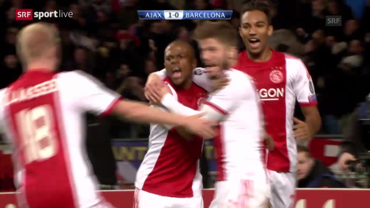 Fussball: CL, Ajax Amsterdam - Barcelona («sportlive»)