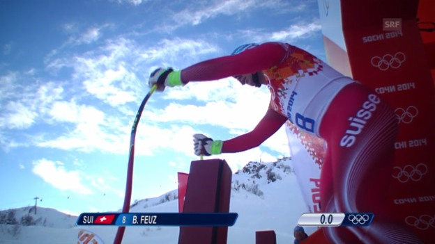 Video «Ski, Kombi-Abfahrt von Beat Feuz» abspielen