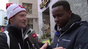 Video «Charles Nguela unterwegs als Sport-Reporter» abspielen