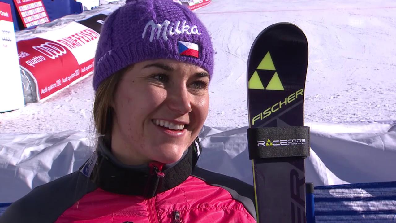 Ski-WM, Vail/Beaver Creek, SL Frauen, Interview Strachova