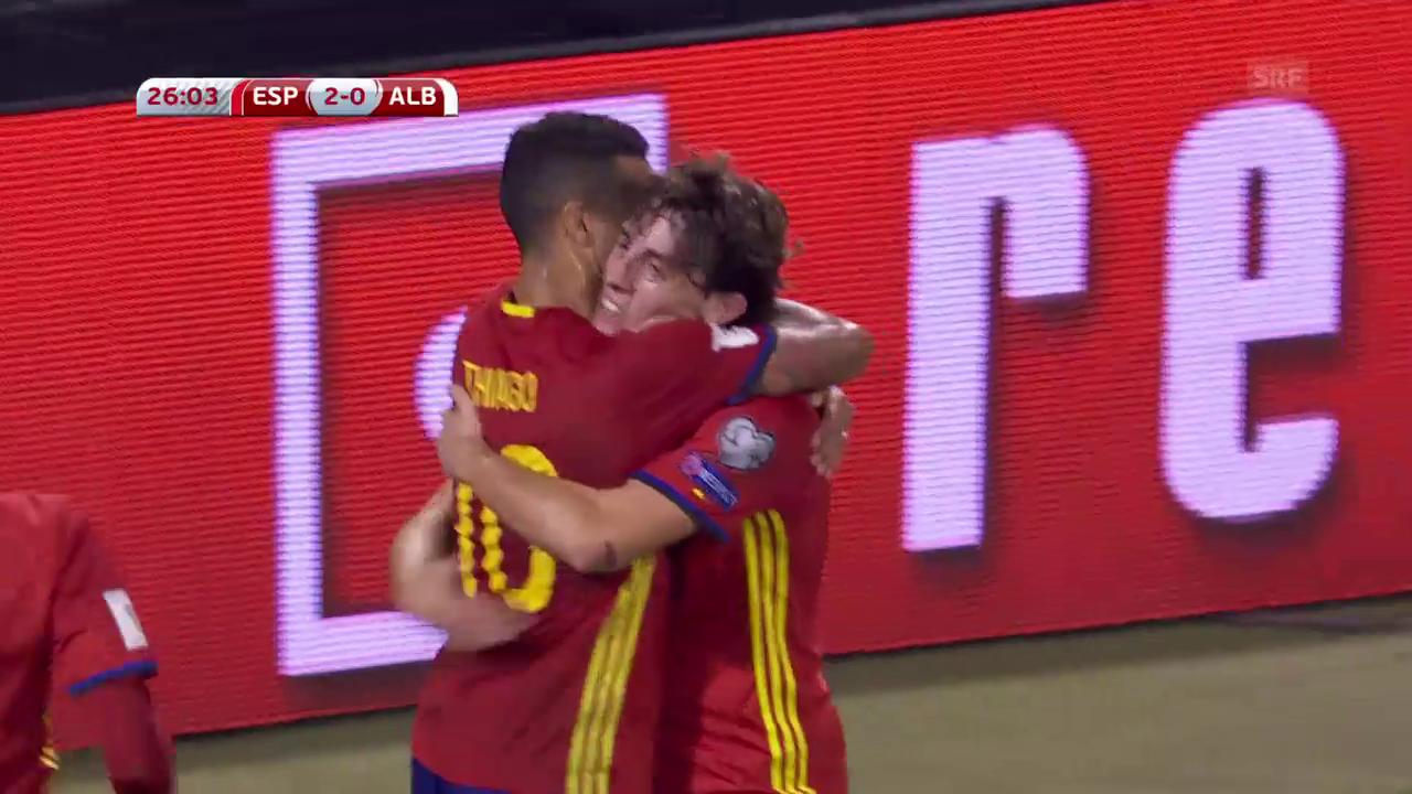 Spanien nach Sieg über Albanien an der WM