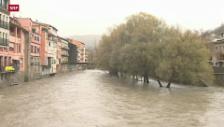 Video «Überschwemmungen in Spanien und Südfrankreich» abspielen