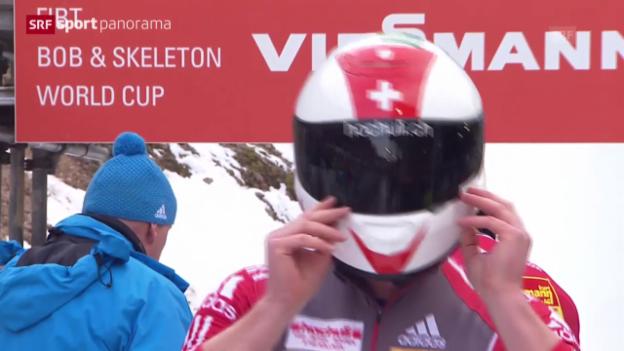 Video «Bob: Weltcup in Altenberg, Rico Peter wird Dritter» abspielen