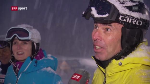 Video «Ski: Die Eltern Bea und Beat Gisin» abspielen