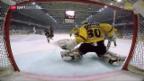 Video «Offensivspektakel beim Playoff-Finalauftakt» abspielen