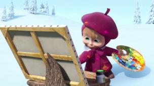 Video «Masha und der Bär - Wunderbar farbig» abspielen