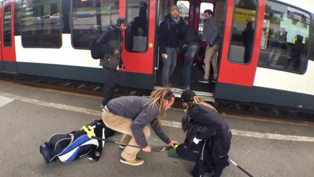Video ««Ready, Steady, Golf!»: Zug-Einstieg in Oensingen» abspielen