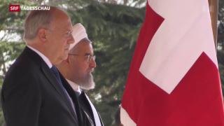 Video «Erster Schweizer Bundespräsident im Iran» abspielen