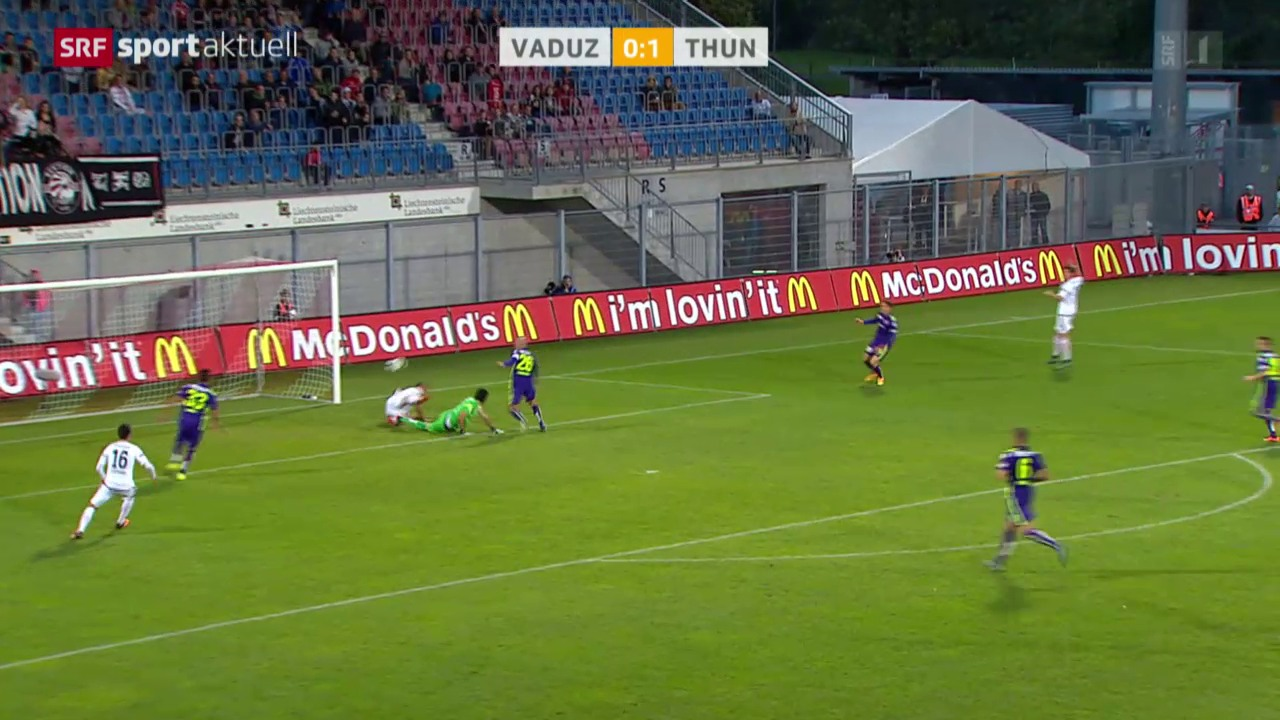 Fussball: Vaduz - Thun
