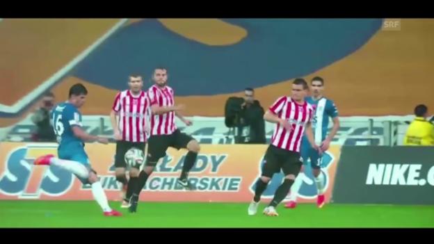 Video «Fussball: Impressionen von Darko Jevtic bei Lech Posen» abspielen