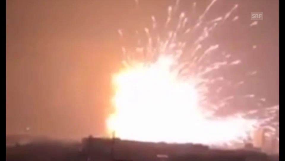 Augenzeugen-Videos der Explosion (ohne Kommentar