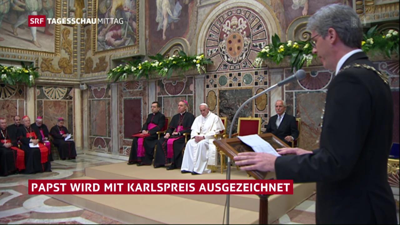 Verleihung des Karlspreises an Papst Franziskus