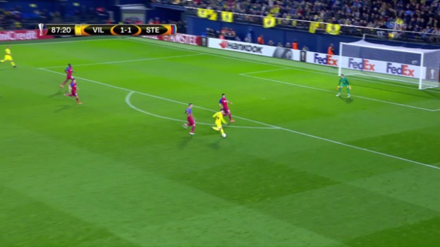 Video «Trigueros mit Traumtor: Villarreal schlägt Steaua» abspielen