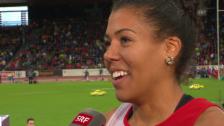 Video «Leichtathletik-EM: Interview mit Mujinga Kambundji» abspielen