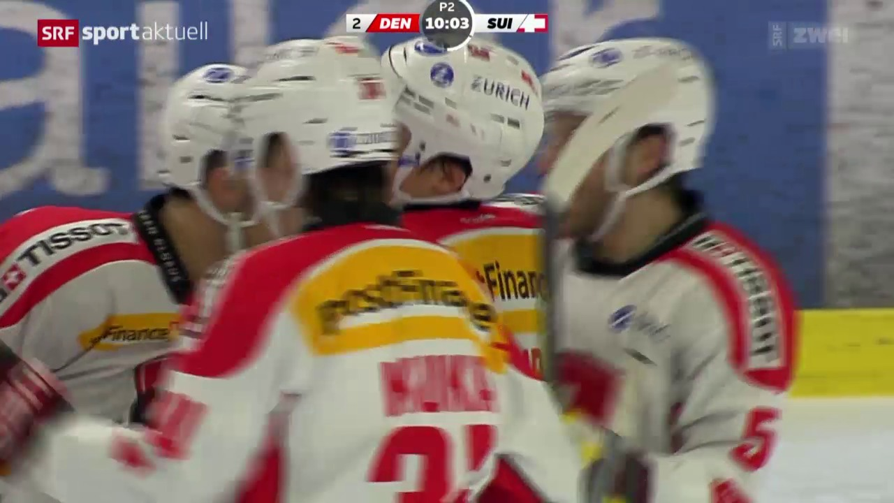 Eishockey: Testspiel Dänemark - Schweiz