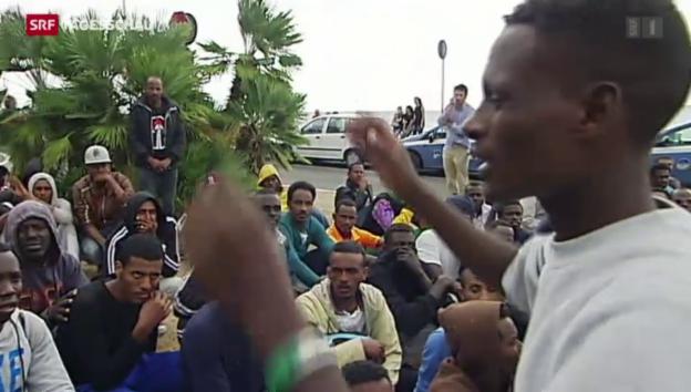 Video «Hunderte Flüchtlinge wollen nach Frankreich» abspielen