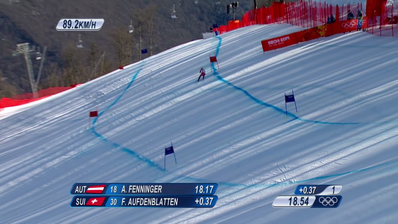 Ski Alpin: Super-G Sotschi, Fahrt Fränzi Aufdenblatten (sotschi direkt, 15.02.2014)