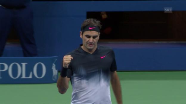 Video «Federer macht kurzen Prozess mit Kohlschreiber» abspielen